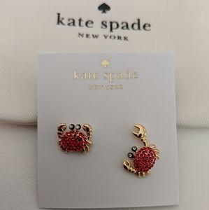 *NWT* ♠️ Kate Spade crab 🦀 earrings